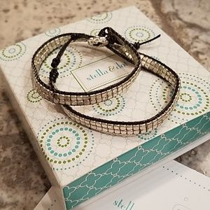 Stella and Dot Facated Double Wrap Bracelet